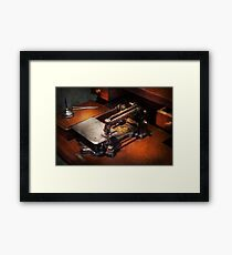 Sewing Machine - Sewing for small hands  Framed Print