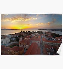 Zadar from above Poster