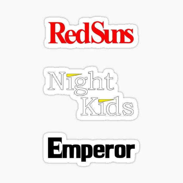 3 sticker Initial D, RedSuns NightKids Emperor Sticker