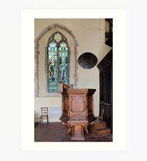 Pulpit and glass Art Print