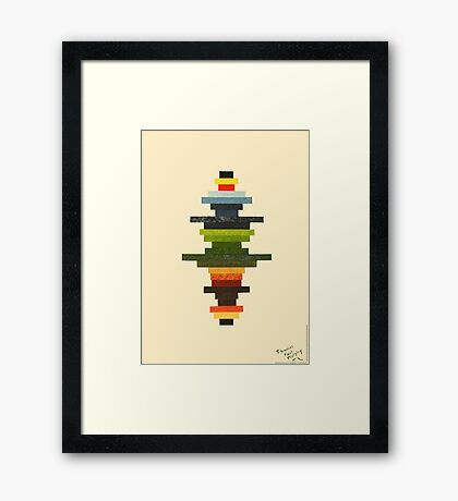 The Obfuscated Cross Framed Print