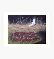 """""""Heron Over Autumn Marsh"""" Art Print"""