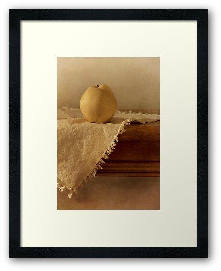 apple pear on a table by Priska Wettstein
