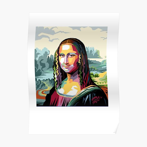 Joconde Pixel Art Poster