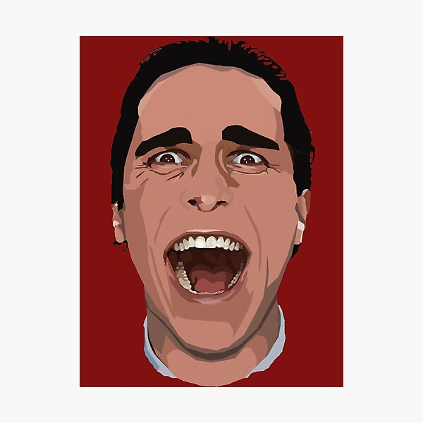 Patrick Bateman Hearts You! Photographic Print