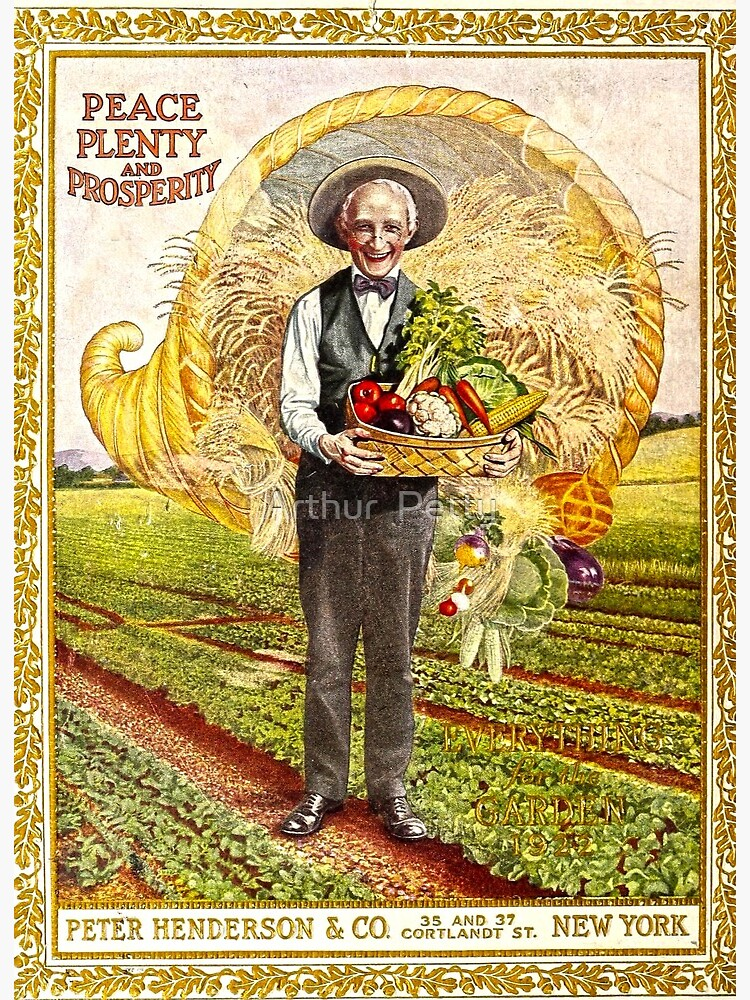 "Pete Henderson & Company Peace Plenty Prosperity vintage magazine"" Art  Board Print by ButchPetty | Redbubble"