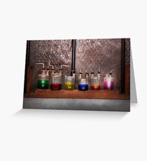Science - Chemist - Glassware for couples Greeting Card
