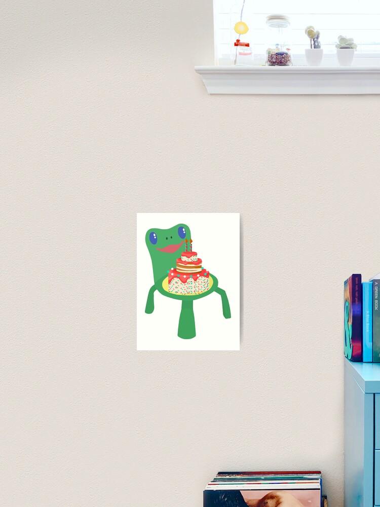 Kopie Von Froggy Chair Cake Animal Crossing Geburtstagsgeschenk