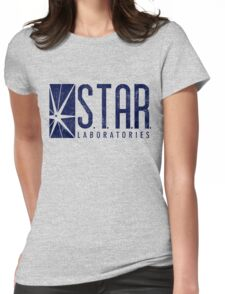 STAR Labs - Blue- Grunge Womens Fitted T-Shirt