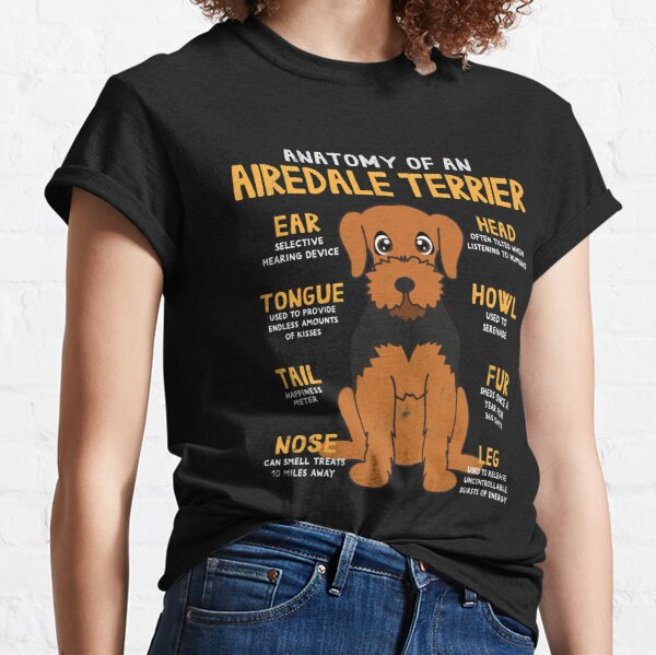 Anatomy of Airdale Terrier Dog Classic T-Shirt