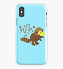 Crazy Platypus lady iPhone Case