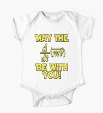 May The Force Be With You! Physics Geek Baby Body Kurzarm