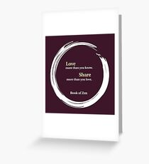 Inspirational Quote About Love Greeting Card