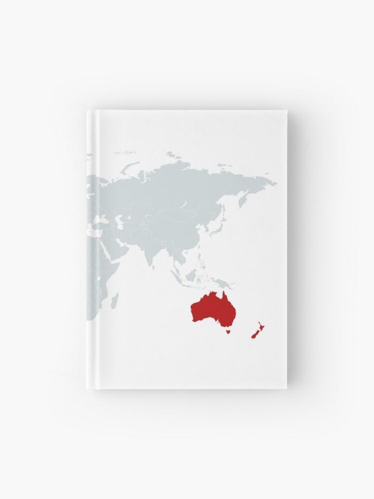 World Map Canada Australia New Zealand United Kingdom Canzuk Hardcover Journal By Canzuk Redbubble