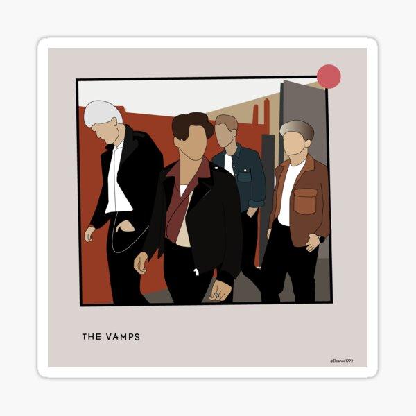 The vamps graphic design Sticker