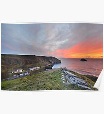 Cornwall: A Golden Finale at Trebarwith Strand Poster