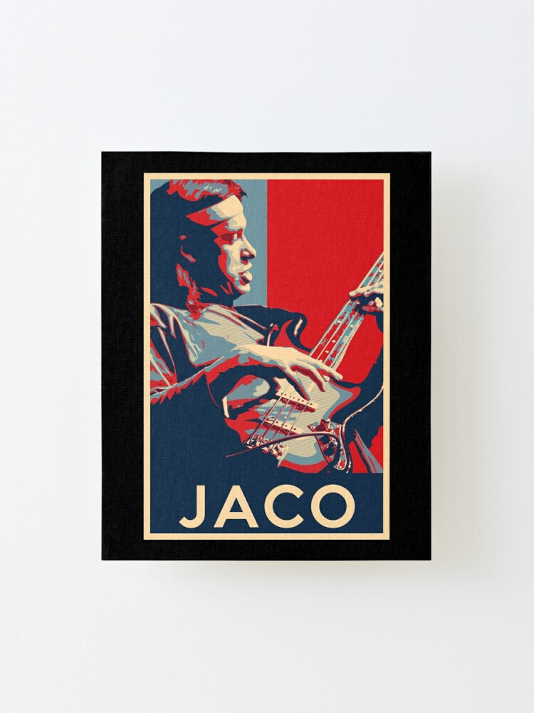 Alternate view of Jaco Pastorius Hope Poster - Sizes of Jazz Musician History Mounted Print