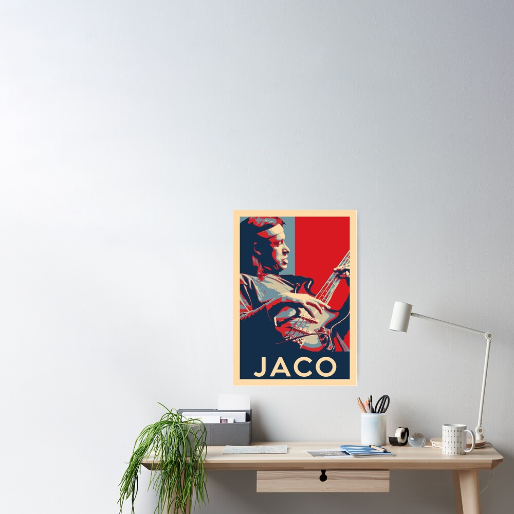 Jaco Pastorius Hope Poster - Sizes of Jazz Musician History Poster