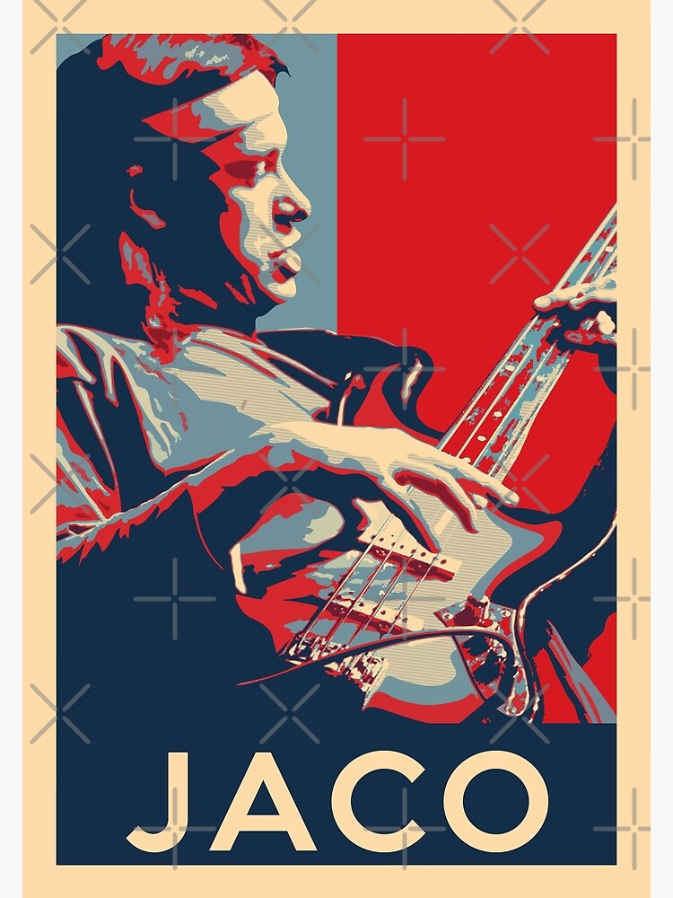 Jaco Pastorius Hope Poster - Sizes of Jazz Musician History by Quentin1984