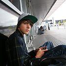 sat at airport by 2kazza