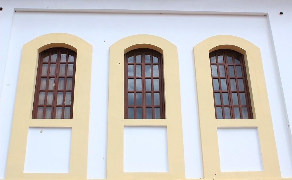 Three Windows in a Wall by rhamm