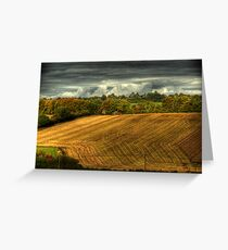 Last day of the harvest Greeting Card