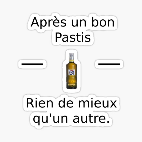 T-Shirt Pastis Sticker