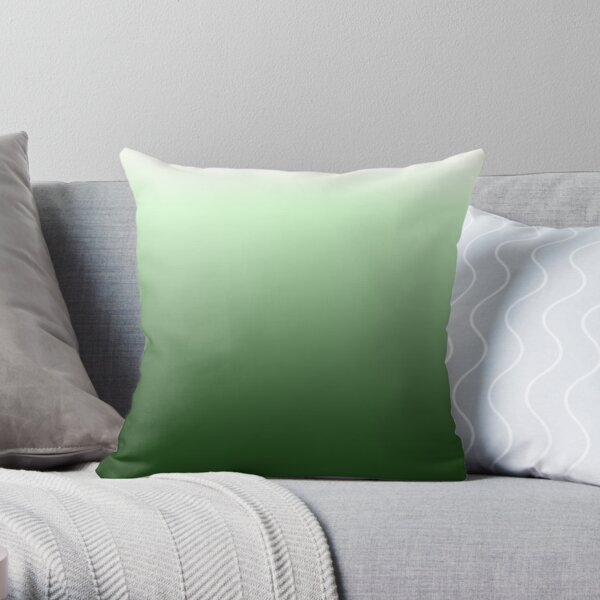 Green gradientt Throw Pillow
