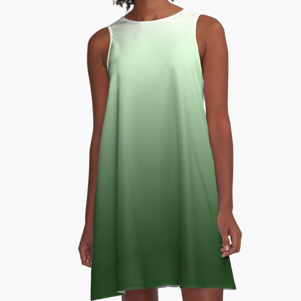 Green gradientt A-Line Dress