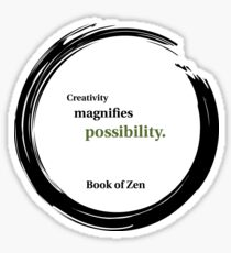 Inspirational Quote About Creativity Sticker