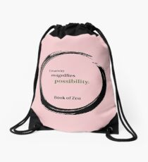 Inspirational Quote About Creativity Drawstring Bag