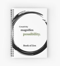 Inspirational Quote About Creativity Spiral Notebook