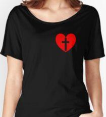 Christian Heart Women's Relaxed Fit T-Shirt