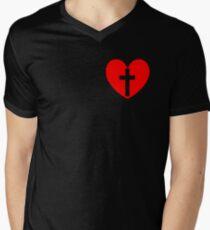 Christian Heart Men's V-Neck T-Shirt