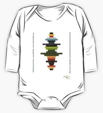 The Obfuscated Cross  (T-shirt) One Piece - Long Sleeve