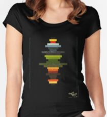 The Obfuscated Cross  (T-shirt) Women's Fitted Scoop T-Shirt