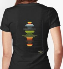The Obfuscated Cross  (T-shirt) Womens Fitted T-Shirt