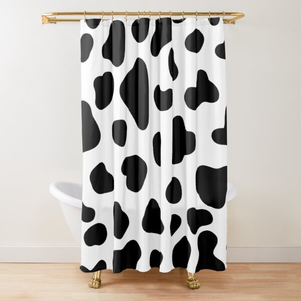 Cute Cow Pattern Black and White Shower Curtain