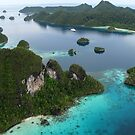 Wayag aerial I by Reef Ecoimages