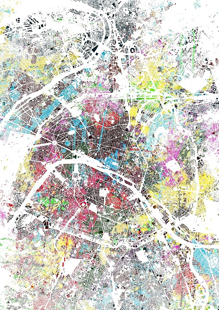 Paris splash painting map by nicksman
