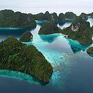 Wayag aerial II by Reef Ecoimages