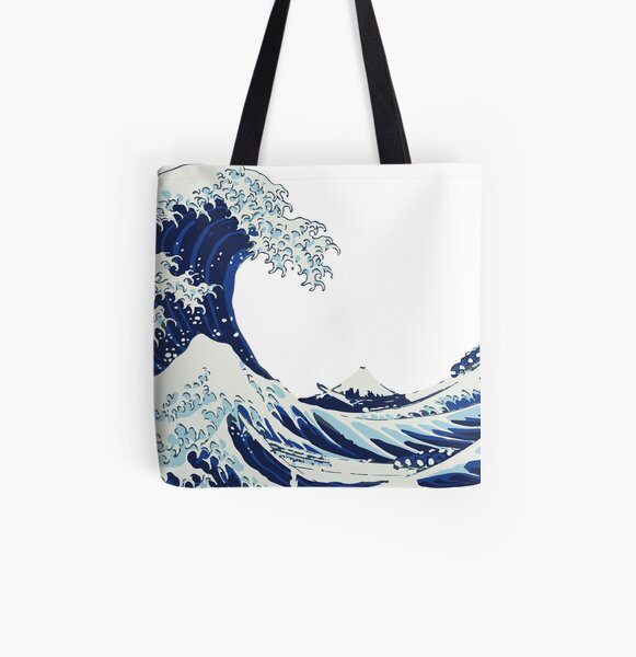 The Big Wave All Over Print Tote Bag