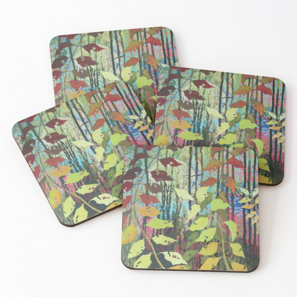 """Senescence"" Mixed media artwork print Coasters (Set of 4)"