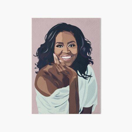 Michelle obama Art Board Print