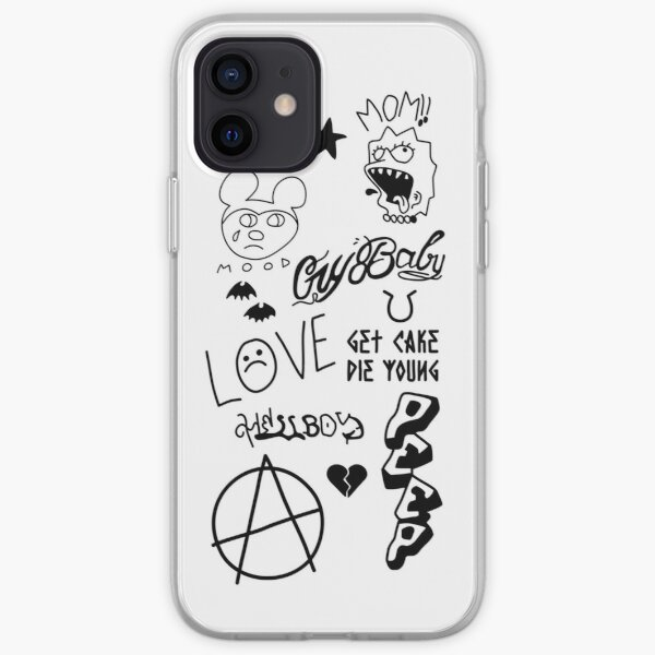 Vinilo o funda para iPhone Lil Peep Tattoo Funda blanda para iPhone