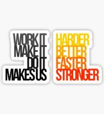 Daft Punk - Harder Better Faster Stronger Sticker