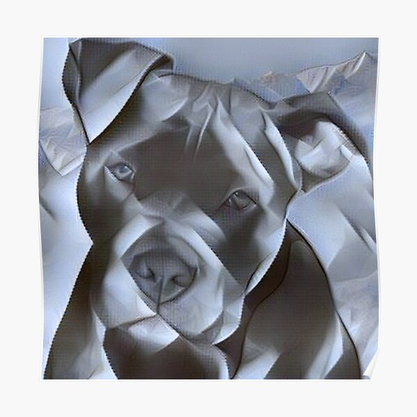 beautiful painting of a pit bull terrier for all dog lovers of this gentle breed  Poster