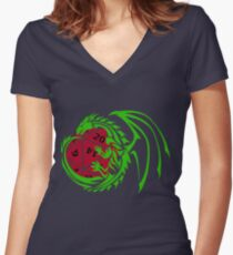Dungeons and Dragons - Custom Colors Available! Women's Fitted V-Neck T-Shirt