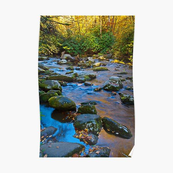 Cool Colors, Smoky Mountain Creek Poster