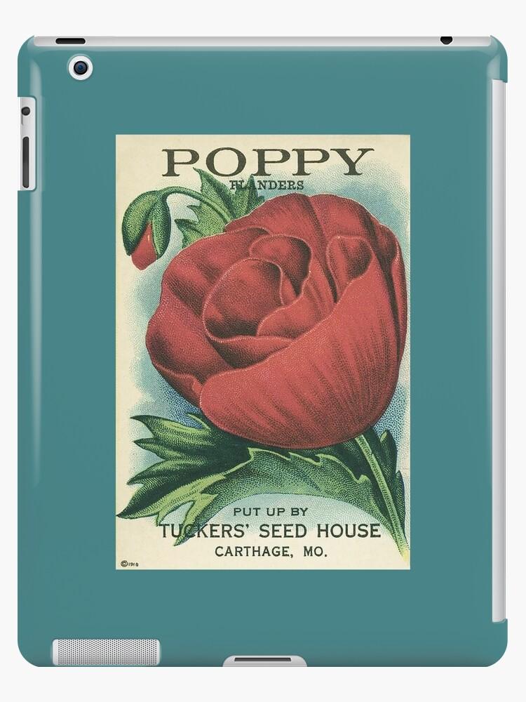 Antique Poppy Seed Packet Artwork Ipad Case Skin By Fuzzyhoney